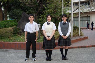 東京都立 両国高等学校 附属中学校制服2